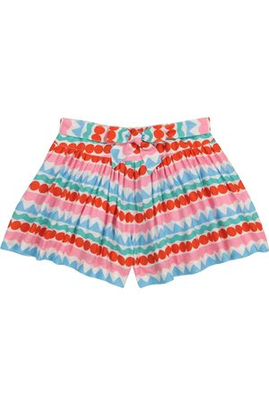 Stella McCartney Striped crêpe shorts