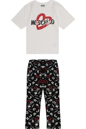 Moschino Dziewczynka Legginsy - Stretch-cotton T-shirt and leggings set