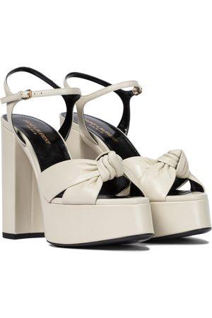 Saint Laurent Bianca 125 leather platform sandals