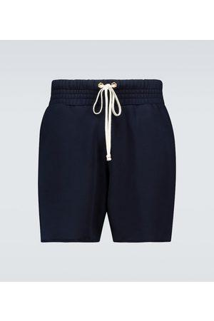 Les Tien Yacht cotton jersey shorts
