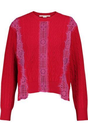 Stella McCartney Lace-trimmed wool sweater