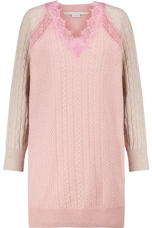 Stella McCartney Lace-trimmed wool minidress