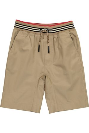Burberry Icon Stripe cotton twill shorts