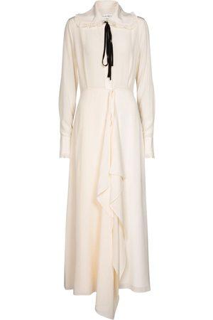 Victoria Beckham Ruffled silk maxi dress