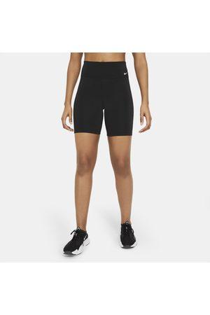 Nike Spodenki damskie do jazdy na rowerze ze średnim stanem 18 cm One - Czerń