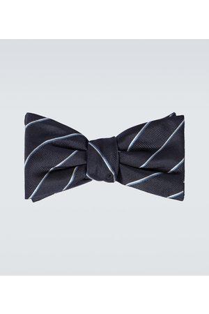 Alexander McQueen Striped silk bowtie