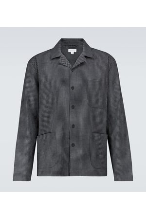 Sunspel Z długim rękawem - Cotton long-sleeved pajama shirt