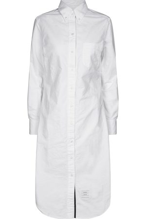 Thom Browne Cotton midi shirt dress