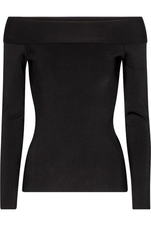 Victoria Beckham Stretch-knit off-shoulder top
