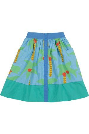 Stella McCartney Dziewczynka Spódnice z nadrukiem - Printed organic cotton skirt