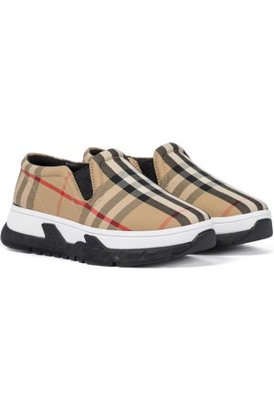 Burberry Vintage Check canvas slip-on sneakers
