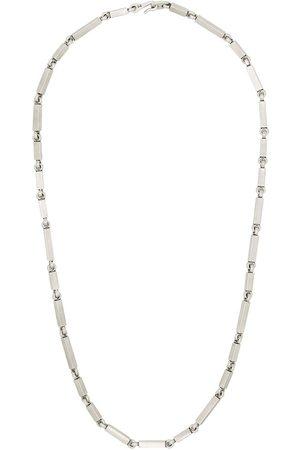 M. COHEN Mężczyzna Naszyjniki - Sterling rectangular-link necklace