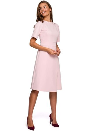 MOE Sukienka z kopertowym dołem - różowa