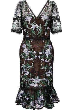 Marchesa Notte Kobieta Sukienki koktajlowe i wieczorowe - Embroidered tulle midi dress
