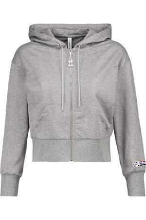 Adam Selman Sport Kobieta Bluzy - Cropped metallic jersey hoodie