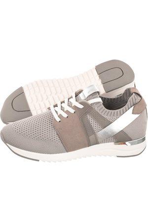 Caprice Kobieta Bluzy - Sneakersy Szare 9-23711-26 257 Lt Grey Knit C (CP252-b)