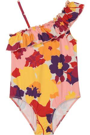 Il gufo Dziewczynka Stroje kąpielowe jednoczęściowe - Ruffled floral swimsuit