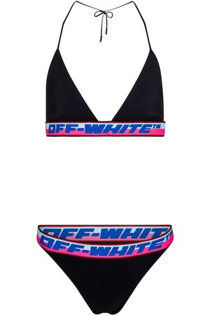 OFF-WHITE Triangle logo bikini set
