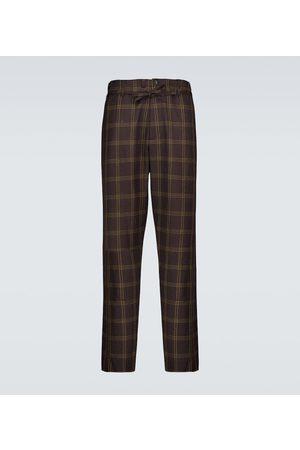 Marni Checked wool-blend pants