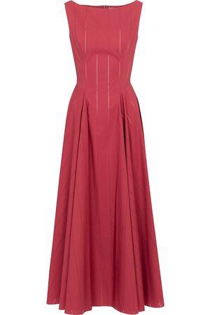 Alaïa Openwork cotton poplin maxi dress