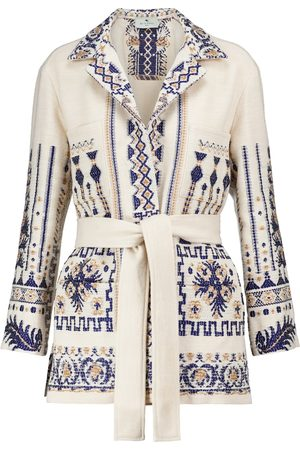 Etro Kobieta Kurtki - Wool and cotton-blend jacket