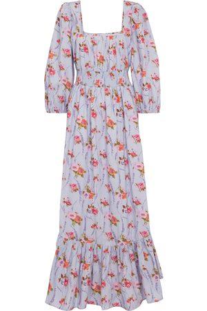 LOVESHACKFANCY Kobieta Sukienki z nadrukiem - Minnia floral cotton maxi dress