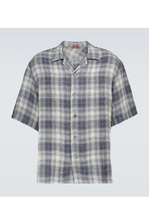 BARENA Checked linen shirt