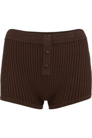 LIVE THE PROCESS Kobieta Szorty - Ribbed-knit shorts