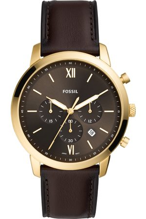 Fossil Mężczyzna Zegarki - Zegarek - Neutra Chrono FS5763 Brown/Gold