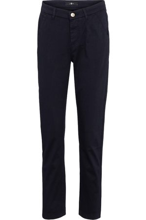 7 for all Mankind Kobieta Chinosy - Mid-rise slim cropped twill pants