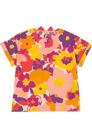 Il gufo Dziewczynka Topy - Floral cotton poplin top