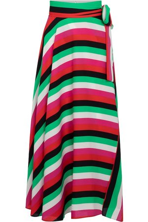 Diane von Furstenberg Kobieta Spódnice midi - Carson striped wrap skirt
