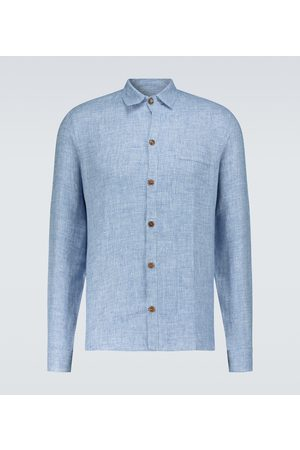 King and Tuckfield Linen pocket shirt