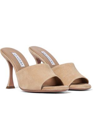 Aquazzura Kobieta Sandały - Violette 95 suede sandals