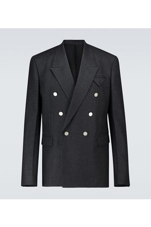 Bottega Veneta Kurtki - Double-breasted wool jacket