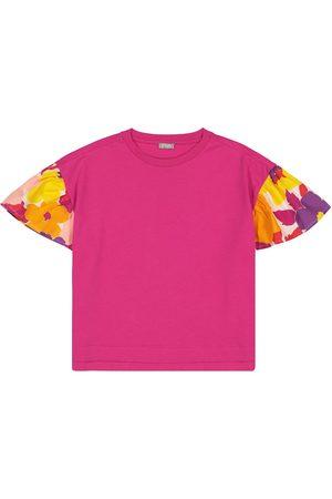 Il gufo Dziewczynka Z krótkim rękawem - Floral cotton T-shirt