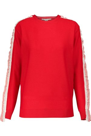 Stella McCartney Silk-trimmed wool sweater