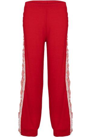 Stella McCartney Silk-trimmed wool trackpants
