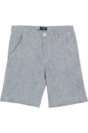 Il gufo Pinstriped linen shorts