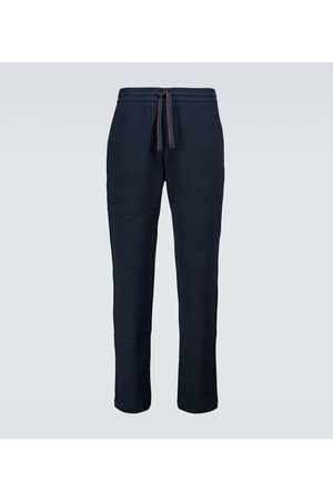Loro Piana Horsey cotton fleece trackpants