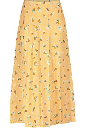 RIXO London Kobieta Spódnice maxi - Nancy floral silk crêpe midi skirt