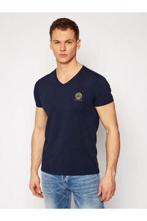 VERSACE Mężczyzna Z krótkim rękawem - T-Shirt Scollo AUU01004 Granatowy Regular Fit