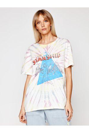 ONE TEASPOON Kobieta Z krótkim rękawem - T-Shirt Starship Tye Dye Boyfriend Tee 23901 Boyfriend Fit