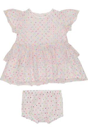 Stella McCartney Kids Niemowlę Sukienki koktajlowe i wieczorowe - Baby polka-dot tulle dress and bloomers