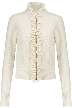 Chloé Cable-knit wool-blend cardigan