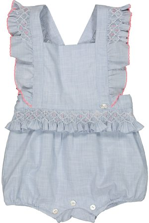 Tartine Et Chocolat Baby embroidered cotton playsuit