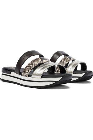 Hogan H257 leather platform sandals