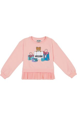 Moschino Printed stretch-cotton sweatshirt