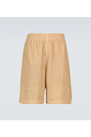 Bottega Veneta Perforated leather shorts