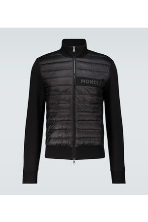 Moncler Bi-fabric cotton-blend cardigan